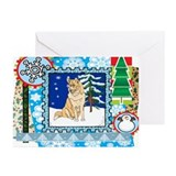 Scrapbook Husky Christmas Greeting Cards (Pk of 10