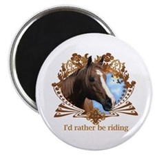 "I'd Rather Be Riding Horses 2.25"" Magnet (10 pack)"