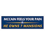 McCain 7 Mansions Bumper Sticker