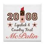 Lipstick Country First McPalin Tile Coaster