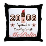 Lipstick Country First McPalin Throw Pillow