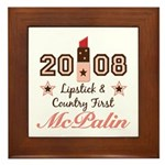 Lipstick Country First McPalin Framed Tile