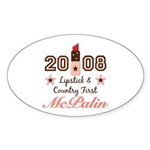 Lipstick Country First McPalin Sticker (Oval 50 pk