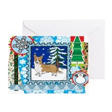 Scrapbook Welsh Corgi Christmas Greeting Card
