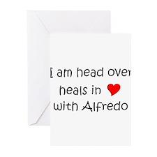 Funny I love alfredo Greeting Cards (Pk of 20)