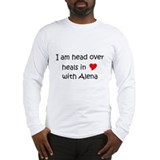 Cute I love (heart) alena Long Sleeve T-Shirt