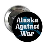 Alaska Against War activist button