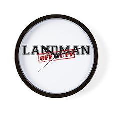 Landman Off Duty Wall Clock