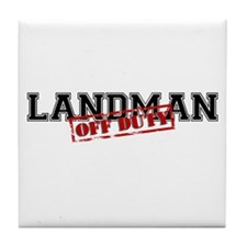 Landman Off Duty Tile Coaster