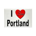 I Love Portland Rectangle Magnet (10 pack)