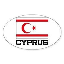 Cyprus Flag Oval Decal