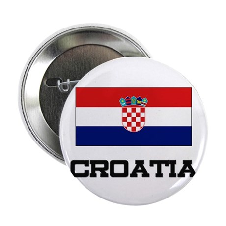 "Croatia Flag 2.25"" Button (10 pack)"