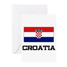 Croatia Flag Greeting Cards (Pk of 10)