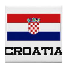 Croatia Flag Tile Coaster