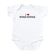 I Love WIND POWER Infant Bodysuit