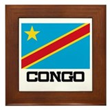 Congo Flag Framed Tile