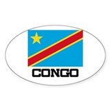 Congo Flag Oval Decal