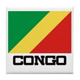 Congo Flag Tile Coaster