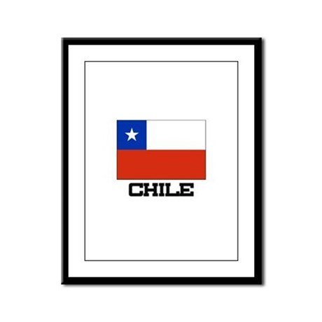 Chile Flag Framed Panel Print