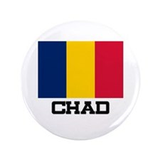 "Chad Flag 3.5"" Button"
