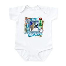 Scrapbook Alpaca Christmas Infant Bodysuit