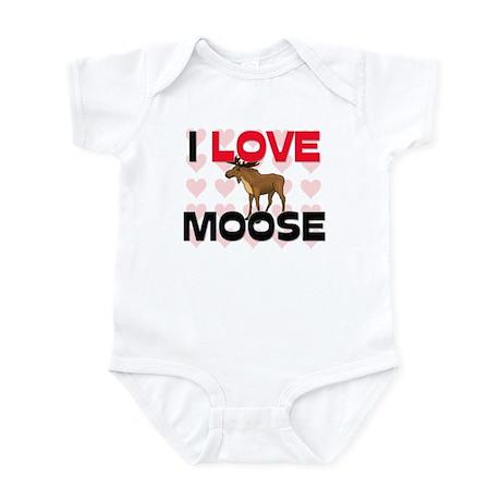 I Love Moose Infant Bodysuit