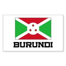 Burundi Flag Rectangle Decal