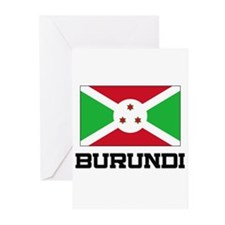 Burundi Flag Greeting Cards (Pk of 10)