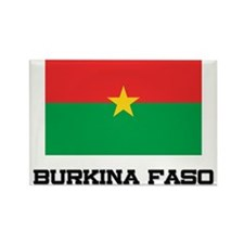Burkina Faso Flag Rectangle Magnet