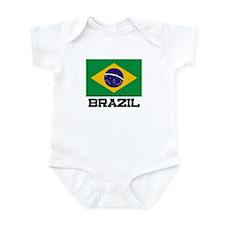 Brazil Flag Infant Bodysuit