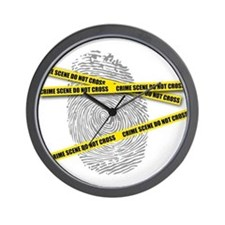 CRIME SCENE! Wall Clock