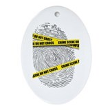 CRIME SCENE! Oval Ornament
