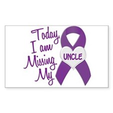 Missing My Uncle 1 PURPLE Rectangle Decal