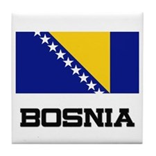 Bosnia Flag Tile Coaster