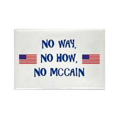 No McCain Rectangle Magnet
