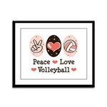 Peace Love Volleyball Framed Panel Print