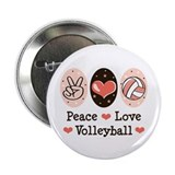 "Peace Love Volleyball 2.25"" Button (100 pack)"
