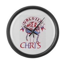chris shop Large Wall Clock