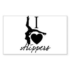 I Love Strippers! Rectangle Decal