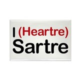 I Heartre Sartre Rectangle Magnet