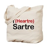 I Heartre Sartre Tote Bag