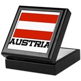 Austria Flag Keepsake Box