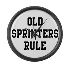 Old Sprinters Rule Large Wall Clock