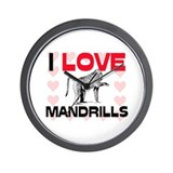 I Love Mandrills Wall Clock