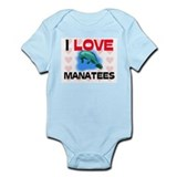 I Love Manatees Onesie