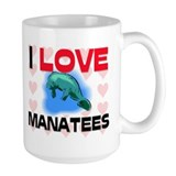I Love Manatees Mug
