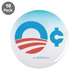 "Obama Zero Cents 3.5"" Button (10 pack)"