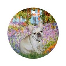 Monet's Garden & French Bulldog Keepsake (Roun