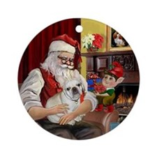 Santa & His French Bulldog Keepsake (Round)