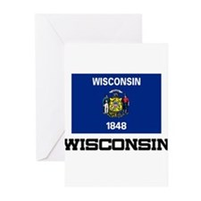 Wisconsin Flag Greeting Cards (Pk of 10)